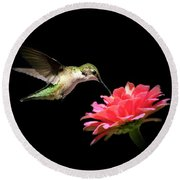Whispering Hummingbird Round Beach Towel