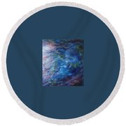 Whispers In A Sea Of Blue Round Beach Towel
