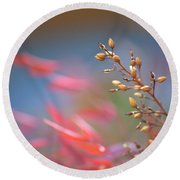 Whispers In The Wind Round Beach Towel
