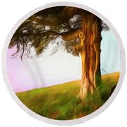 Whispers Of The Wind Round Beach Towel