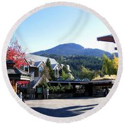 Whistler Mountain Round Beach Towel