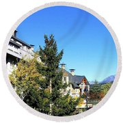 Whistler Village Round Beach Towel