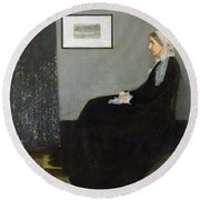 Whistlers Mother Round Beach Towel