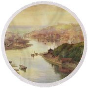 Whitby From Larpool Round Beach Towel