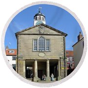 Whitby Old Town Hall Round Beach Towel