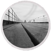 Whitby Pier Round Beach Towel