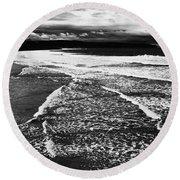 Whitby Sea And Sky  Round Beach Towel