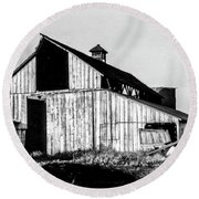 White Barn Round Beach Towel