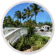 White Bridge Round Beach Towel