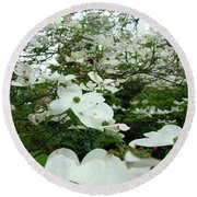 White Dogwood Flowers 6 Dogwood Tree Flowers Art Prints Baslee Troutman Round Beach Towel