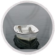 White Dory Round Beach Towel
