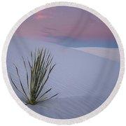 White Dunes Round Beach Towel