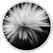 White Hairs ... Round Beach Towel
