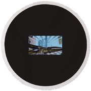 White House To The Moon Round Beach Towel