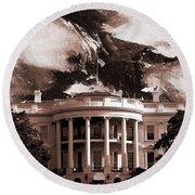 White House Washington Dc Round Beach Towel