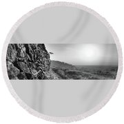 White Nancy At Sunset Round Beach Towel