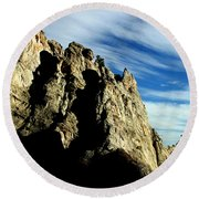 White Rocks Round Beach Towel