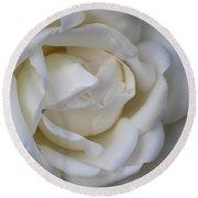 White Rose2 Round Beach Towel