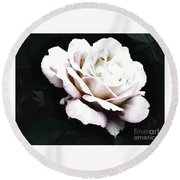 White Rose,stylization Round Beach Towel