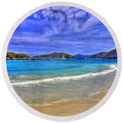 White Sands Beach Round Beach Towel