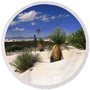 White Sands Round Beach Towel