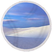 White Sands National Monument, Sunset Round Beach Towel