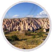 White Valley - Cappadocia Round Beach Towel