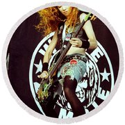 White Zombie 93-sean-0337 Round Beach Towel