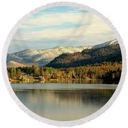 Whiteface Dusting Round Beach Towel
