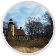 Whitehall Light Round Beach Towel