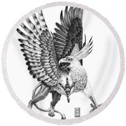 Whitehead Griffin Round Beach Towel