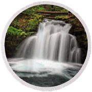 Whitehorse Falls 2 Round Beach Towel