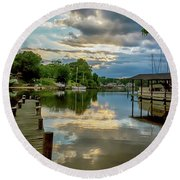 White's Cove Reflections Round Beach Towel