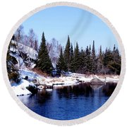 Whiteshell Provincial Park Round Beach Towel