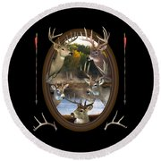 Whitetail Dreams Round Beach Towel by Shane Bechler