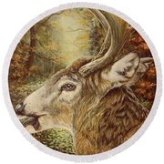 Whitetail Hideaway Round Beach Towel