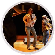 Whitetop Mountain Band In Concert Round Beach Towel