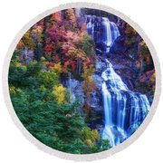 Whitewater Falls Round Beach Towel