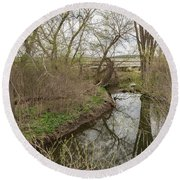 Whitewater River Spring 41 A Round Beach Towel