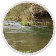 Whitewater River Spring 42 Round Beach Towel