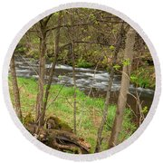 Whitewater River Spring 43 Round Beach Towel