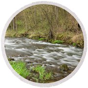 Whitewater River Spring 44 Round Beach Towel
