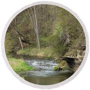 Whitewater River Spring 45 A Round Beach Towel