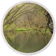 Whitewater River Spring 51 Round Beach Towel