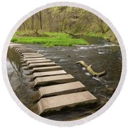 Whitewater River Spring 52 Round Beach Towel