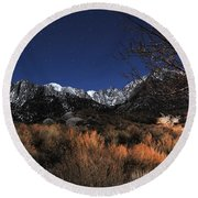 Whitney Campground View Round Beach Towel