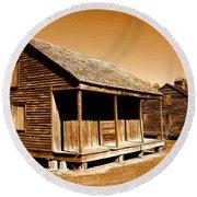 Whitney Plantation Slave Cabins Round Beach Towel