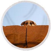 Who Is Looking? Round Beach Towel