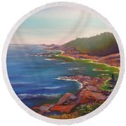 Who Is Out There? Round Beach Towel