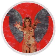 Whore Of Babylon By Mb Round Beach Towel